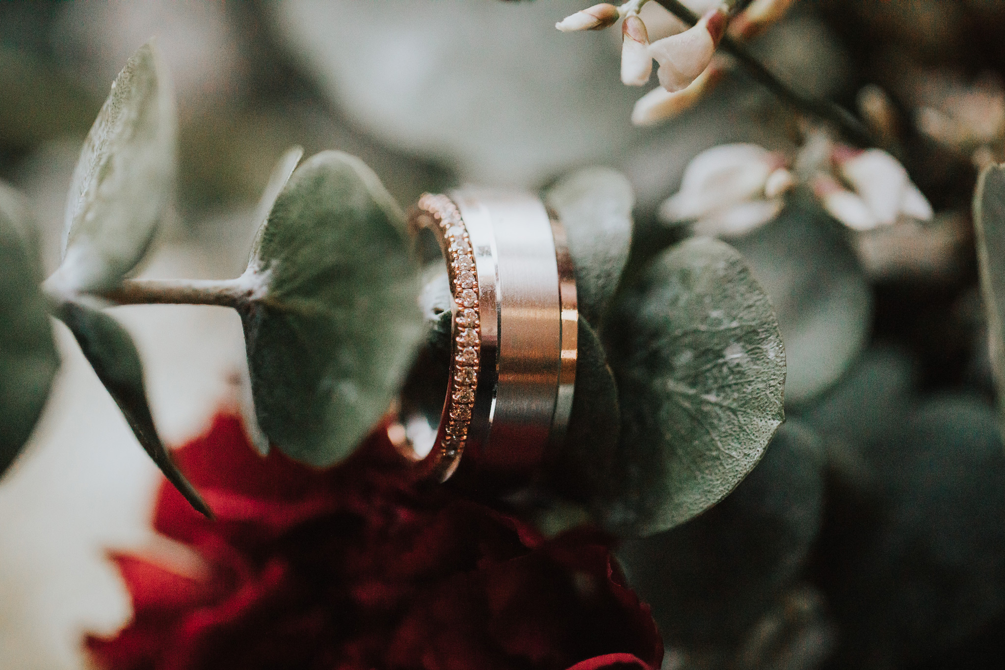 wedding band ring photograph in bridal bouquet with real flowers medicine hat alberta