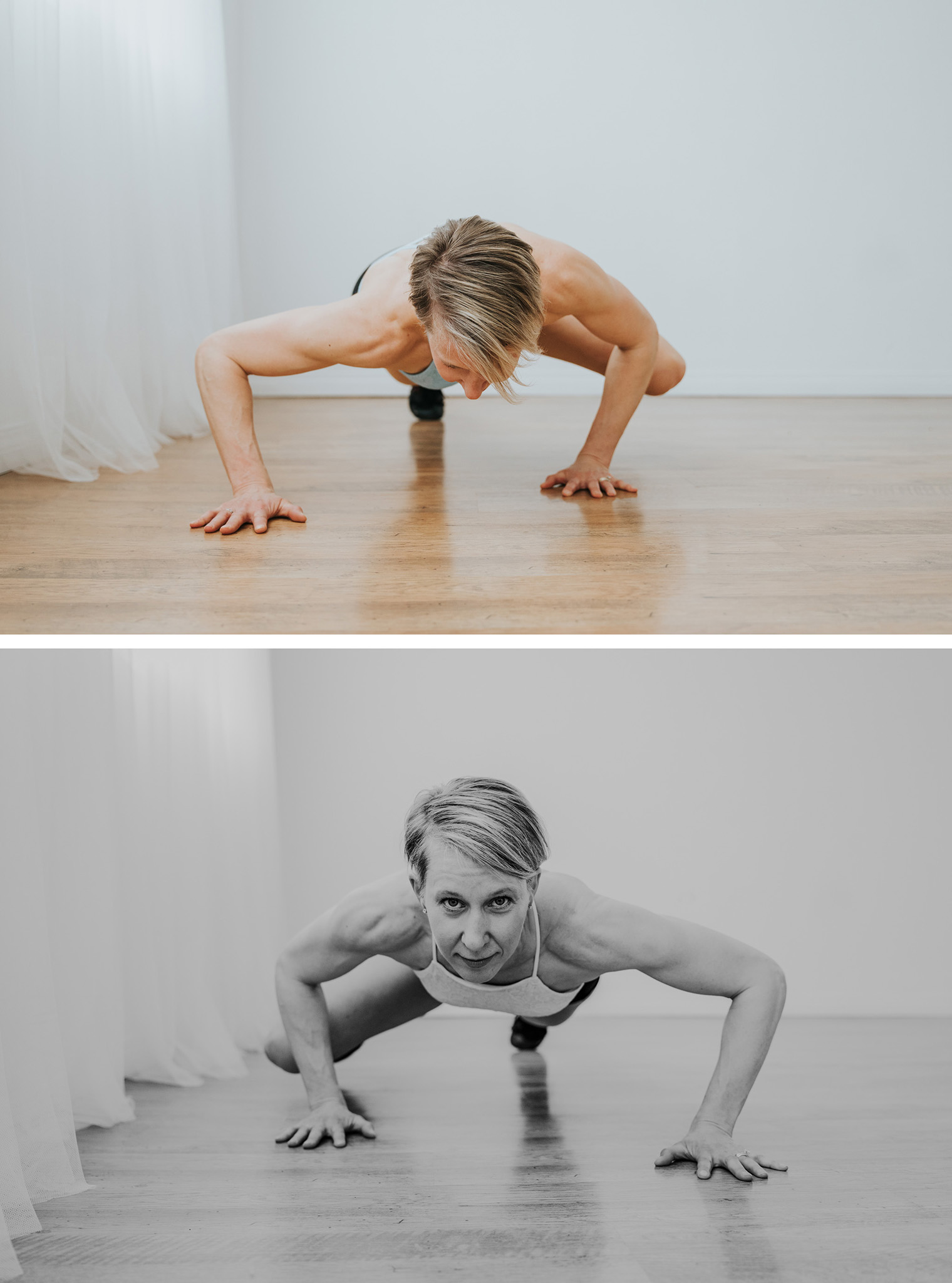 woman exercising plank elbow to knee