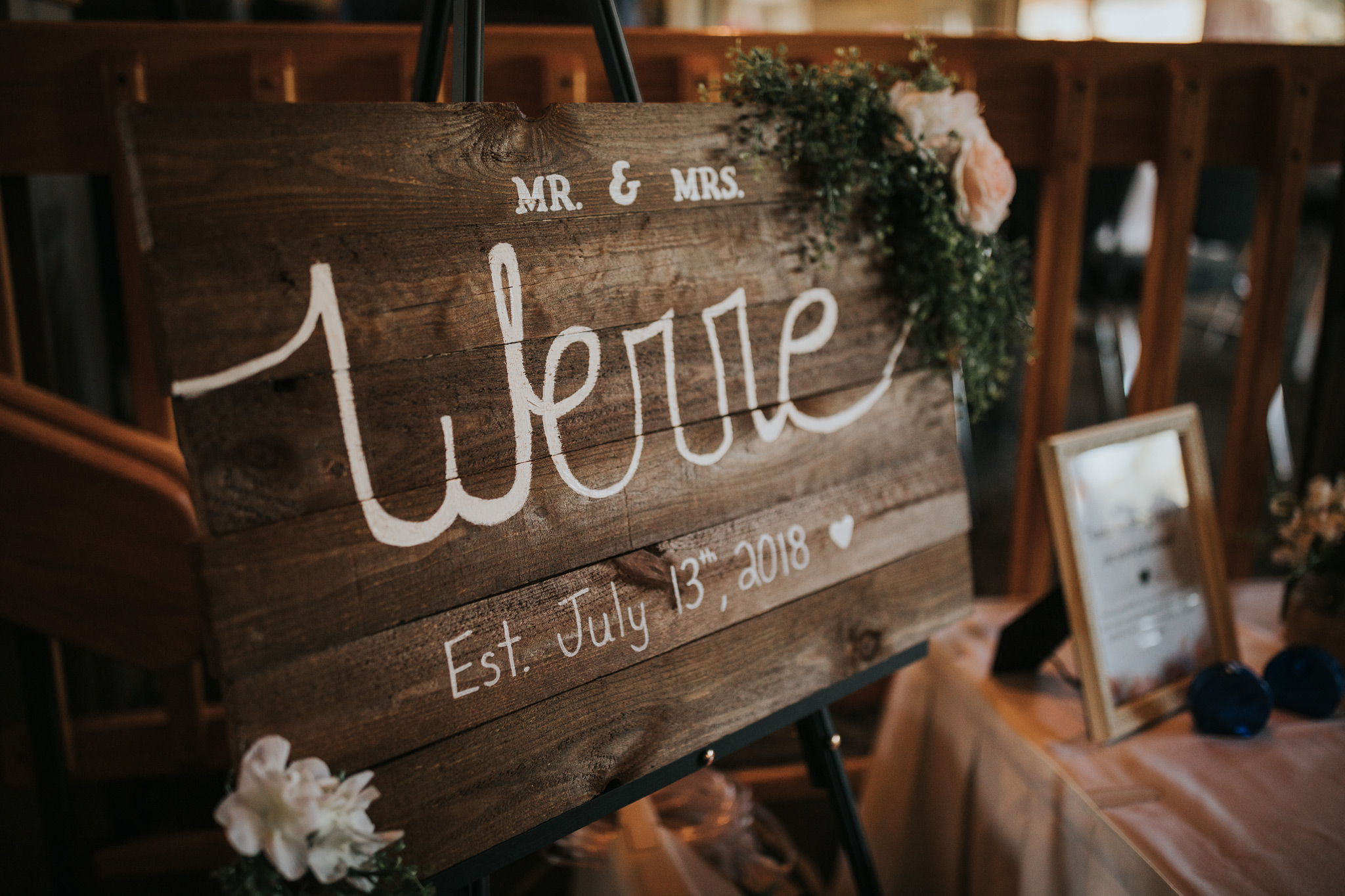 mr and mrs personalized wedding sign