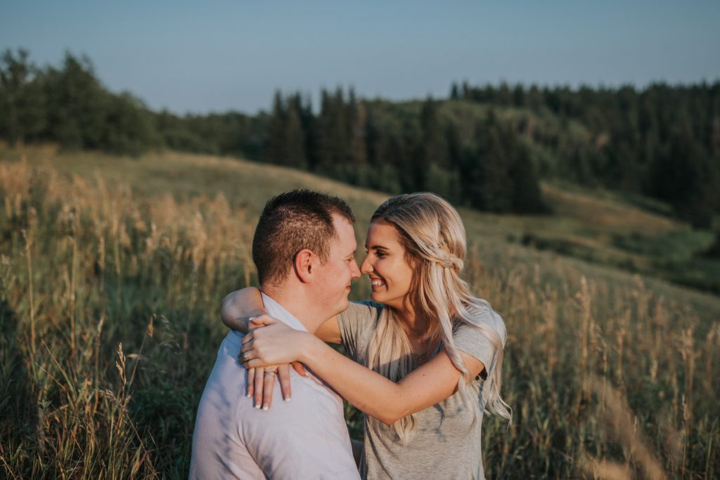 couple giving eskimo kisses laughing cypress hills