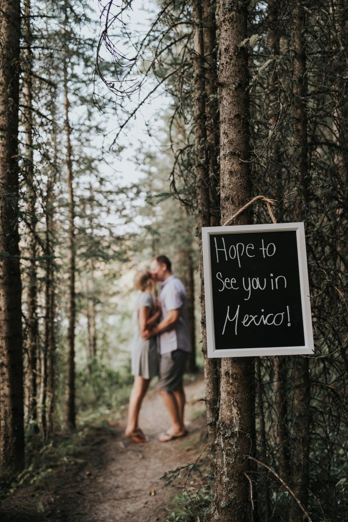 hope to see you in mexico engagement sign photo alberta