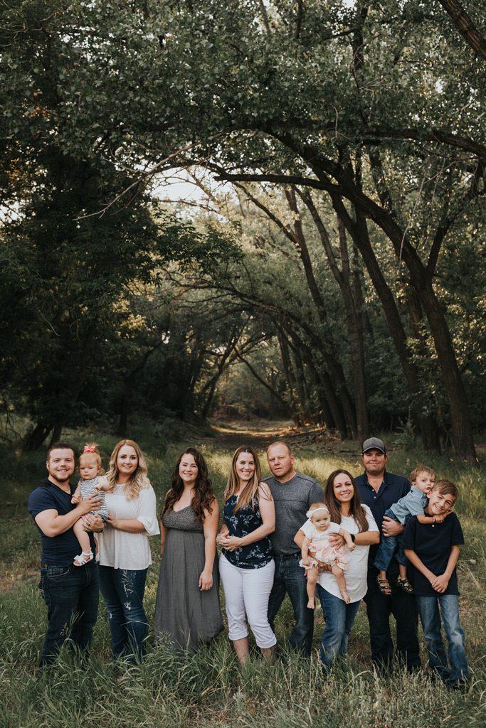 extended family photo strathcona park tree arch