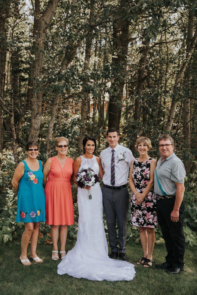 family wedding photo elkwater