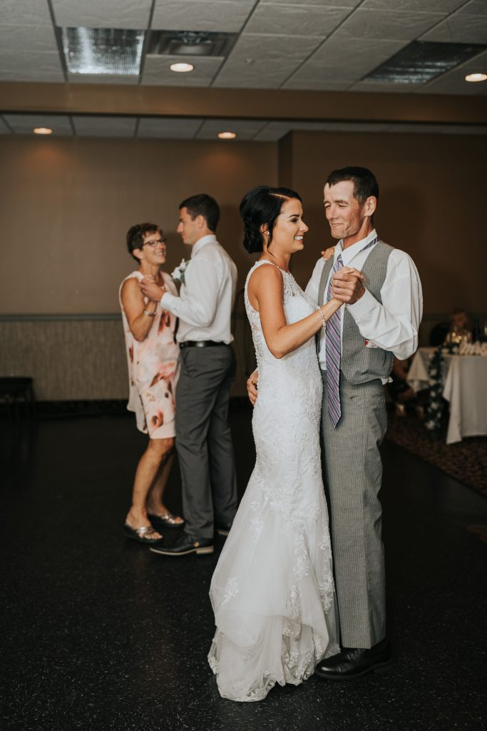 father daughter dance with mother son dance wedding reception