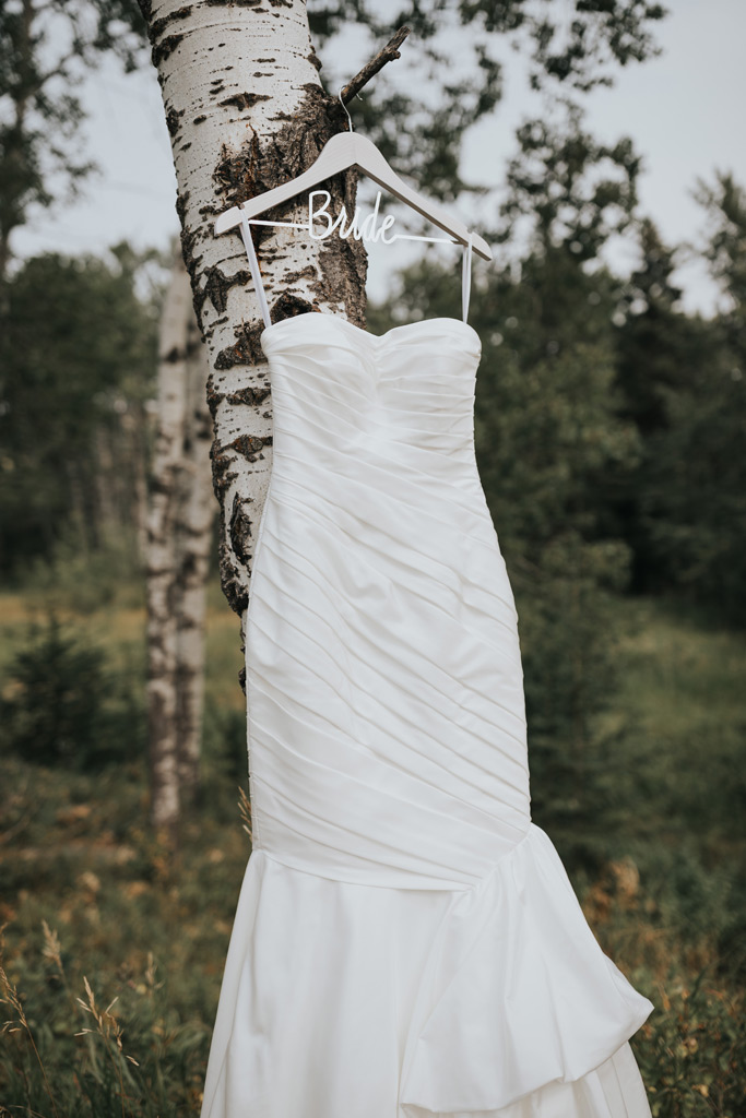 bride hanger wedding dress elkwater alberta