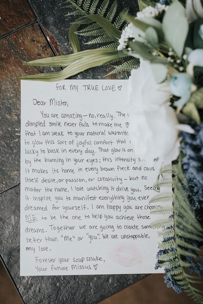 brides letter to her groom