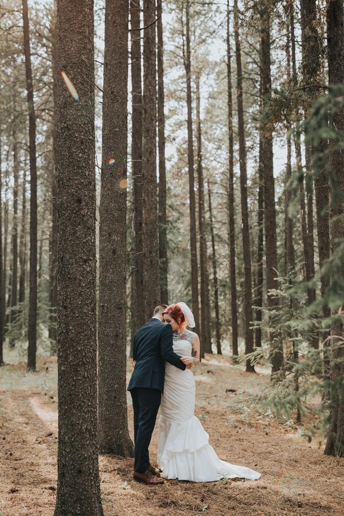 first look elkwater wedding