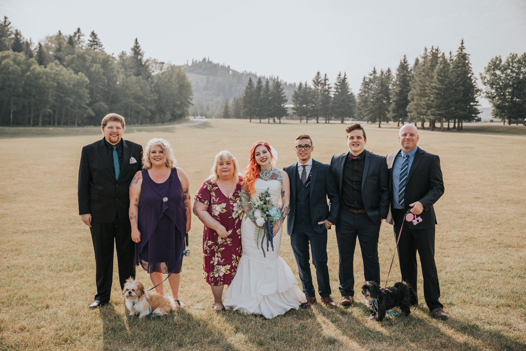 family wedding photo elkwater alberta cypress hills