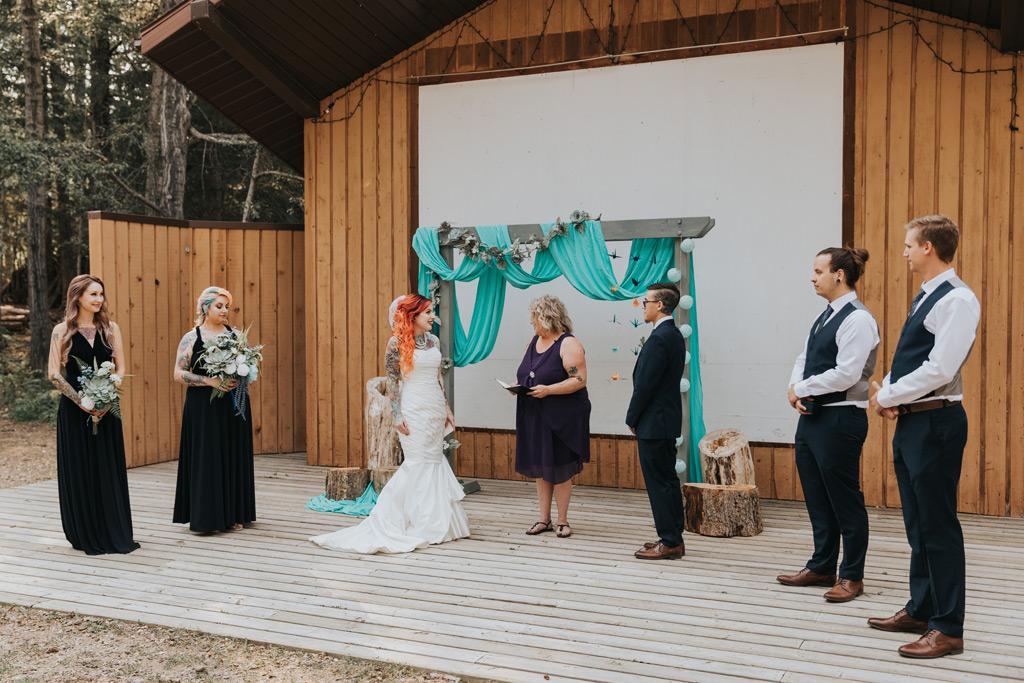 wedding ceremony elkwater amphitheatre