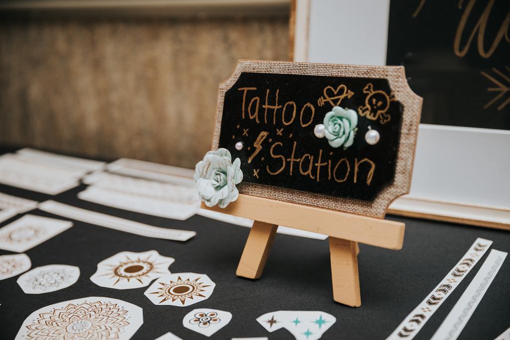 tattoo station wedding reception