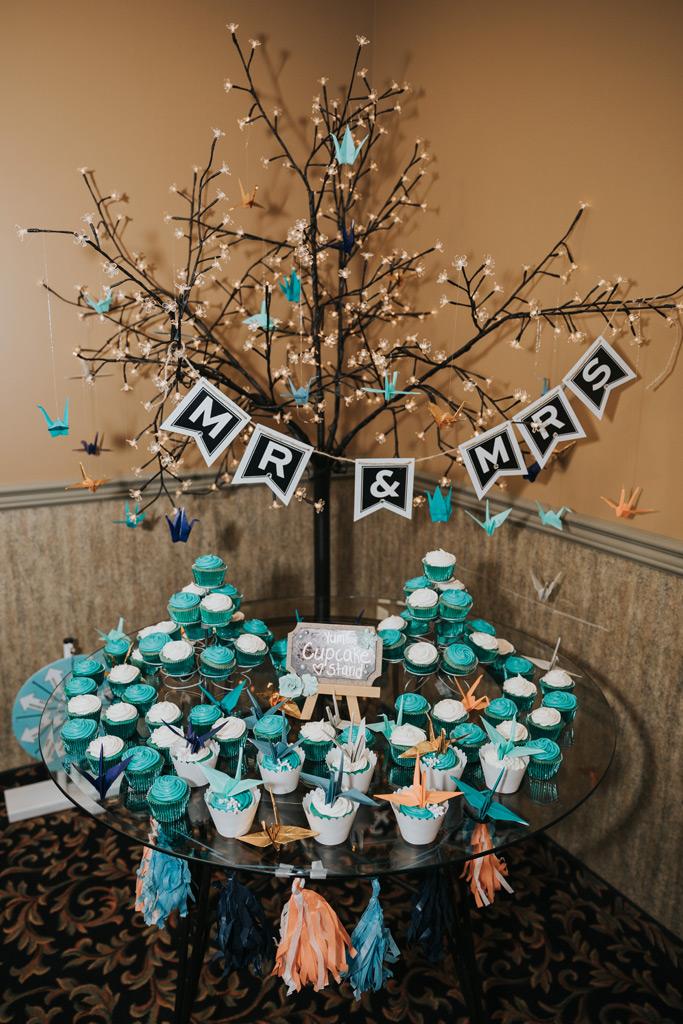 cupcake station wedding reception